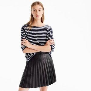 J.Crew Pleather Mini Skirt